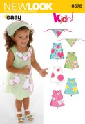 6578 New Look Pattern: Toddler Dresses